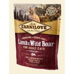 CARNILOVE CAT 0,4KG LAMB&WILD BOAR STERILISED