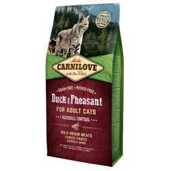 CARNILOVE CAT 2KG DUCK&PHEASANT HAIRBALL