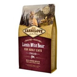 CARNILOVE CAT 2KG LAMB&WILD BOAR STERILISED