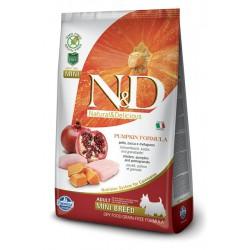 N&D GRAIN FREE 800g PUMPKIN CHICKEN ADUL ADULT MINI CHICKEN&POMEGRANATE (BEZ ZBÓŻ
