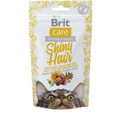 BRIT CARE SNACK CAT SHINY HAIR 50G