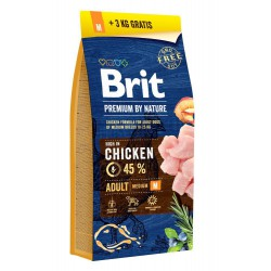 BRIT-BY NATURE 15+3KG ADULT M