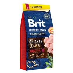 BRIT-BY NATURE 15+3KG ADULT L