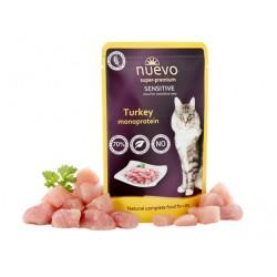 NUEVO CAT 85g SENSITIVE TURKEY MONOPROTE SASZETKA